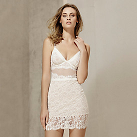 The stylish lace slip