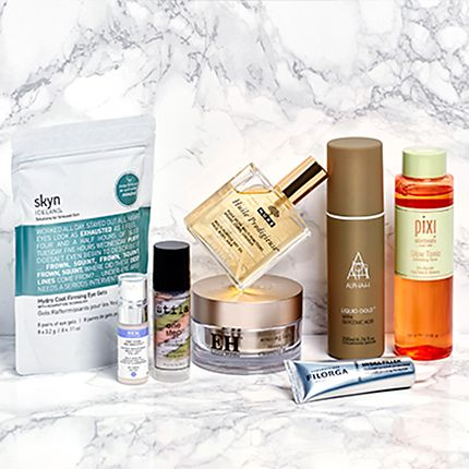 Group shot of skin care products