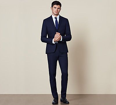 Man wearing modern slim suit