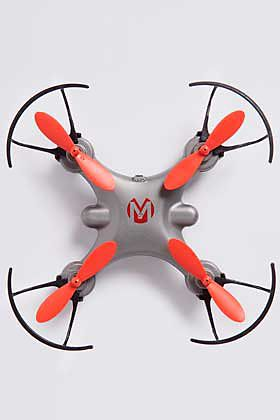 Red and grey drone