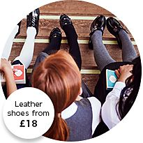 Girls wearing M&S school shoes