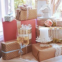 Stack of wedding presents