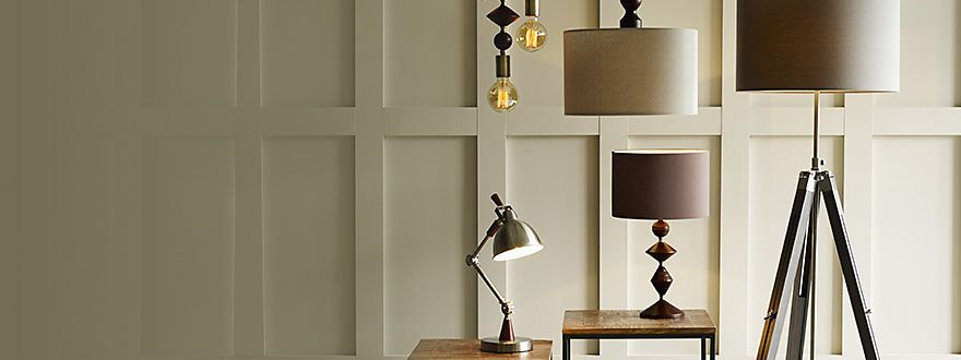 Floor lamps, table lamps and ceiling lights