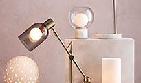 Floor lamps and table lamps