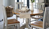 Dining table and the chairs from the Padstow collection