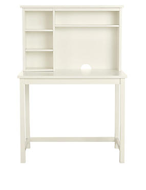 Dawson Desk Top Shelves White