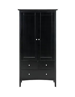 Hastings Dark Double Wardrobe