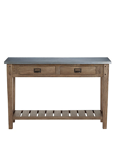 Sanford console table metal top m s for 65 sofa table