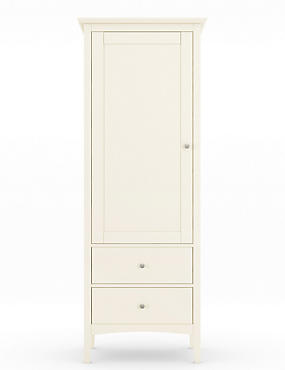 Hastings Ivory Single Wardrobe