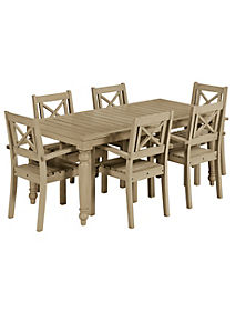 Dahlia Dining Table & 6 Chairs - M&S