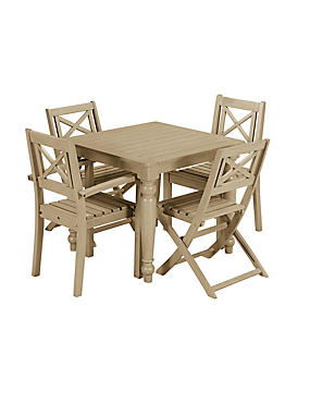 Dahlia Square Table & 4 Chairs