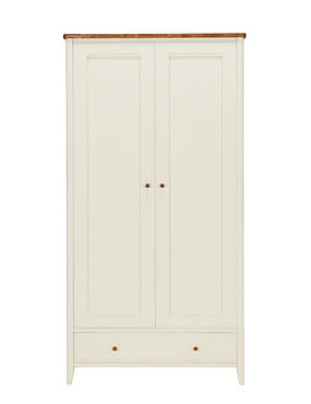 Winchester Double Wardrobe - Cream