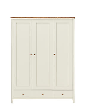 Winchester Triple Wardrobe - Cream