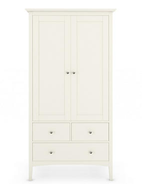 Hastings Ivory Double Wardrobe