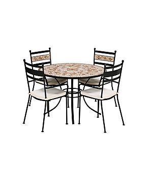 Verona Dining Table & 4 Chairs, , catlanding