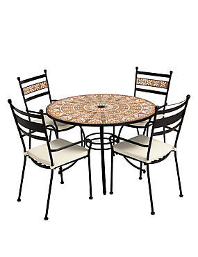 Petra Round Table & 4 Chairs
