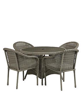 Marlow Table & 4 Chairs - Grey