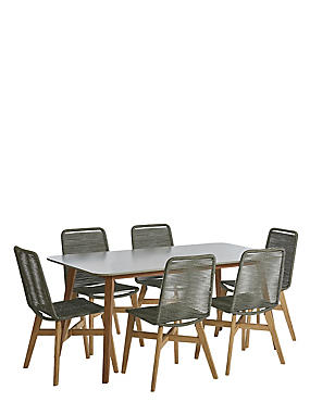 Palermo Table & 6 Chairs, , catlanding