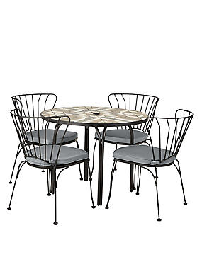 Geo Mosaic Table & 4 Chairs