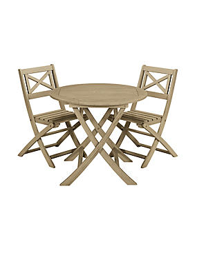 Dahlia Round Folding Table & 2 Chairs