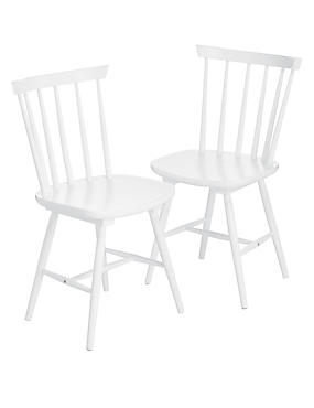 2 Dinton White Chairs
