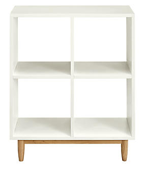 Alto Painted Low Bookcase White