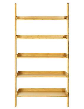 Wide Ladder Shelving, NATURAL, catlanding