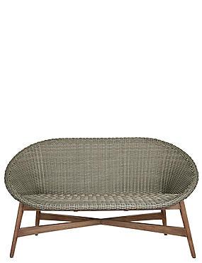 Capri Teak Sofa - Grey, , catlanding