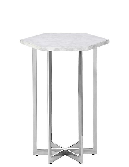 Ava White Marble Side Table Home Design Ideas