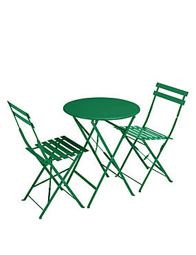 Cortado Round Table & 2 Chairs - Green
