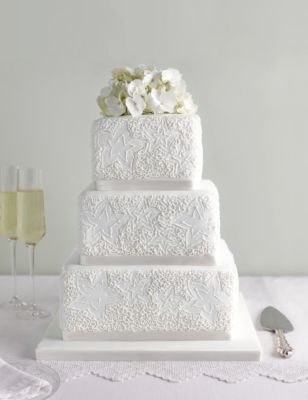 How to do lace work on wedding cakes