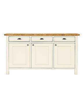 Padstow 3 Dr Sideboard Cream