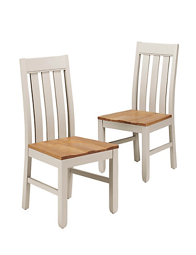 2 padstow slat back dining chairs m s