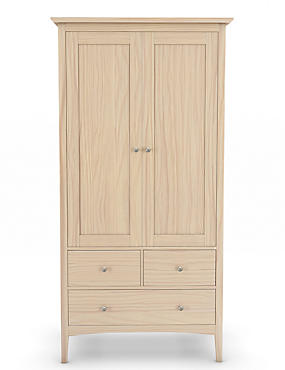 Hastings Double Wardrobe Soft White, , catlanding