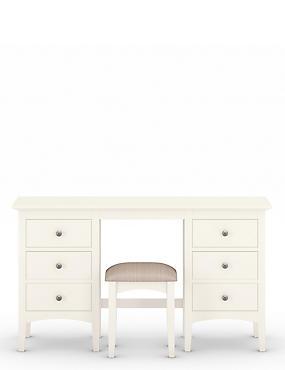 Hastings Ivory Dressing Table & Stool Set, WHITE, catlanding