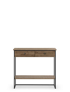 Sanford Parquet 2 Drawer Console Table, , catlanding