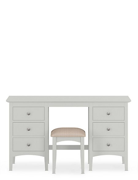 Hastings Grey Dressing Table & Stool Set | M&S