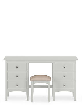 Hastings Grey Dressing Table & Stool Set