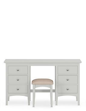 Hastings Grey Dressing Table & Stool Set, , catlanding