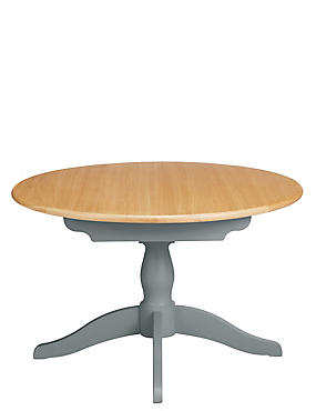 Padstow Round Extending Dining Table Grey, , catlanding