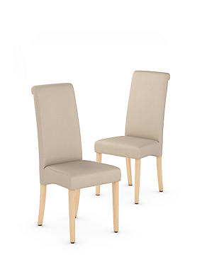 Set of 2 Alton Scroll Back Dining Chairs, , catlanding