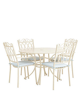 Rosedale Table & 4 Chairs - Cream