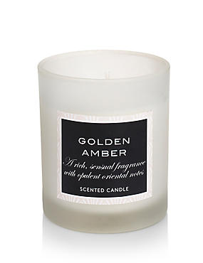 Golden Amber Filled Candle