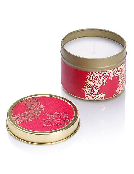 Mandarin, Cinnamon & Cloves Scented Candle Tin