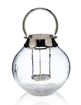 Large Mottled Glass Lantern