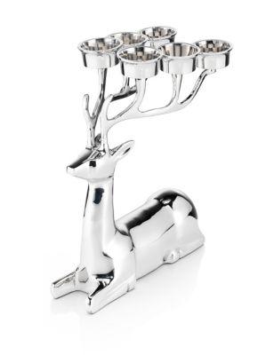 Sitting Reindeer Tealight Holder | M&S