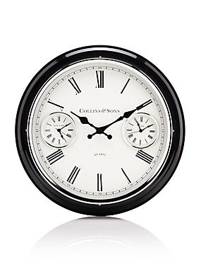 Medium 2 Dial Wall Clock