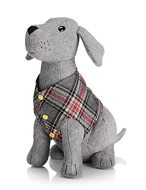 Buster Sitting Dog Doorstop