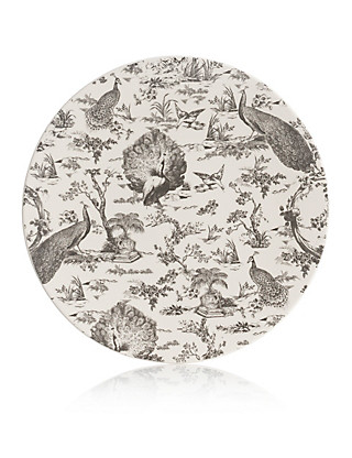 Peacock Decal Platter Home