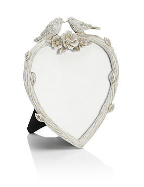 Heart Bird Photo Frame 11 x 11cm (4 x 4inch)